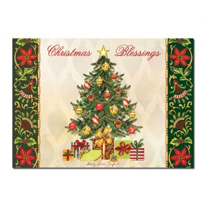 Christmas Tree Blessings Afrocentric Christmas Card