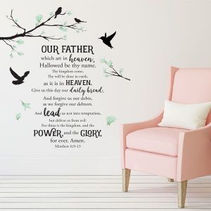 Lords Prayer Wall Art Decal