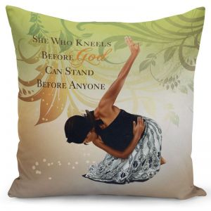 She Who Kneels Pillow Cover