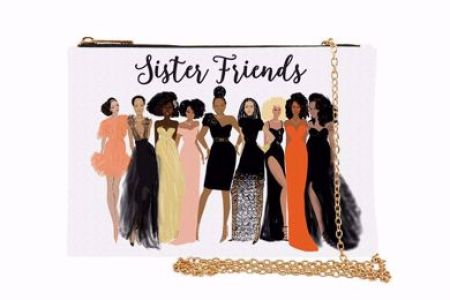 Sister Friends African American Chain Purse