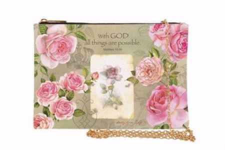 With God Roses Chain Purse