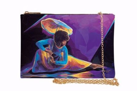 Praise Dancer With Umbrella African American Chain Purse