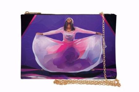 Pink And Purple Praise Dancer  African American Chain Purse