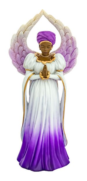 Serenity in purple African American Figurine