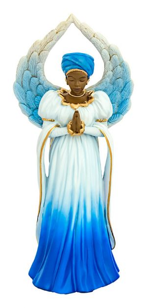 Serenity Angel in Blue African American Figurine