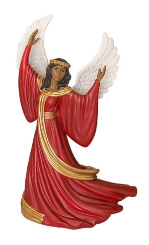 Angel Rejoicing African American Figurine