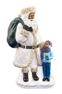 Santa with boy in white