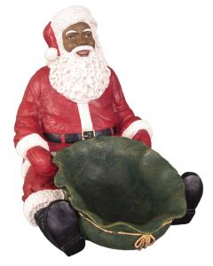 African American Santa Candy Tray