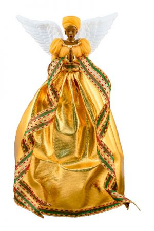 Serenity In Gold African American Christmas Tree Toppers