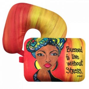 Blessed To Live Without Stress African American Convertible Neck Pillow
