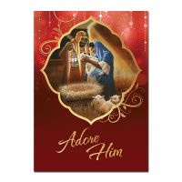 Adore Him African American Christmas Card