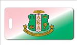 Alpha Kappa Alpha AKA Sorority Pink and Green Luggage Tag
