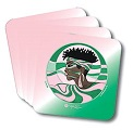 Alpha Kappa Alpha AKA Sorority Pink and Green Profile Drink Coasters