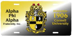 Alpha Phi Alpha Fraternity License Plate