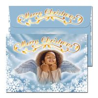 Angel Merry Christmas Cards African American