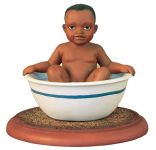 Emma Janes Babies Remember When Baby Silas Loved Taking a Bath in the Old Porcelain Washtub African American Figurine