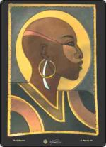 African American Bald Woman Cutting Board Hot Plate Trivet
