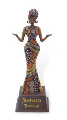 Beautifully Blessed African American Figurine