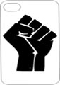 BLACK POWER Cell Phone Case