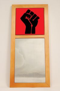 Black Power African American Wall Mirror