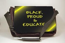 Black Proud and Educated Black Art Laptop Bag