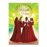Celebrate Him African American Christmas Card