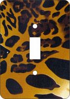 Cheetah Print African American Switch Plate Cover