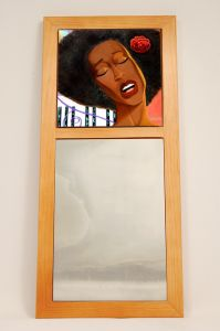 Chocolate Sunrise African American Wall Mirror