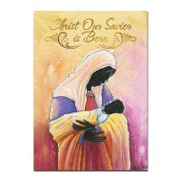 Christ Our Savior is Born African American Christmas Card