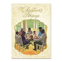 Christmas Blessing Family African American Christmas Card