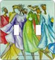 Dancn Divas African American Double Switch Plate Cover