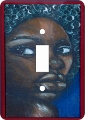 Ebony Girl African American Switch Plate Cover