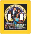 Obama First Family Double Switch Plate Cover
