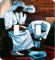 Foot Washing African American Double Switch Plate Cover