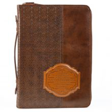 I Know the Plans Brown Luxleather Bible Cover