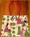 Fuschia and Green Trendy Ethnic Diva Jute Tote Bag