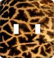 Giraffe Print Double Switch Plate Cover