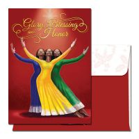 Glory Blessing and Honor African American Christmas Card