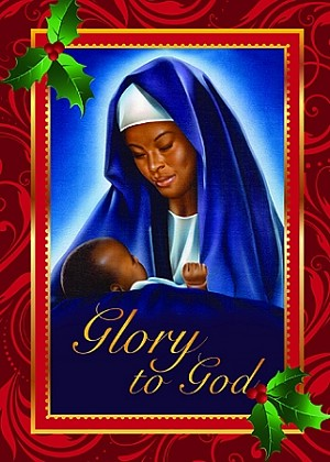 Glory to God Mary and Child African American Christmas Cards