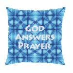 God Answer Prayers Message Pillow