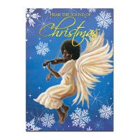 Hear The Sound of Christmas African American Christmas Card