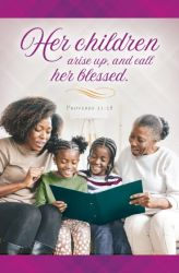 Her Children Call Her Blessed African American Mothers Day Bulletin