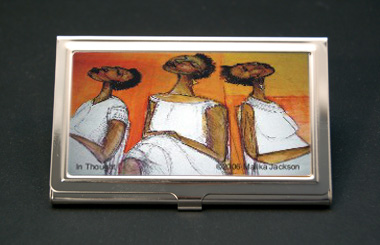 In Thought African American Business Card Credit Card Case
