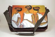 In Thought African American Art Laptop Bag