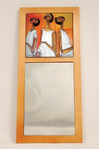 In Thought African American Wall Mirror