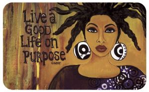 Live A Good Life On Purpose African American Indoor Floor Mat