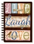Live Laugh Love Spiral Journal