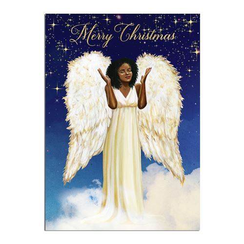 Christmas Angel.Merry Christmas African American Angel Christmas Angel