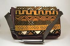Mudcloth III Black Art Laptop Bag