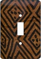 Mudcloth Brown African American Switch Plate Cover